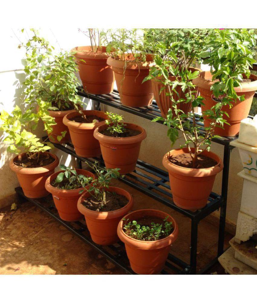 Akura 25 X Both Metal Planter Rack For Flower Pot Plant Grow Bag Garden Planting Hanging Stand