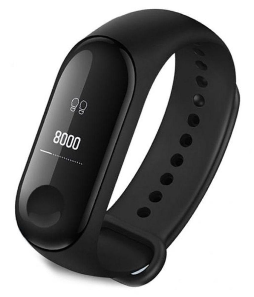Defloc M3 Smart Sports Band Tracker Heart Rate Sleep Monitor,Call  reject,Intelligent Reminder,Pedometer Wrist Band With OLED Screen For  Android