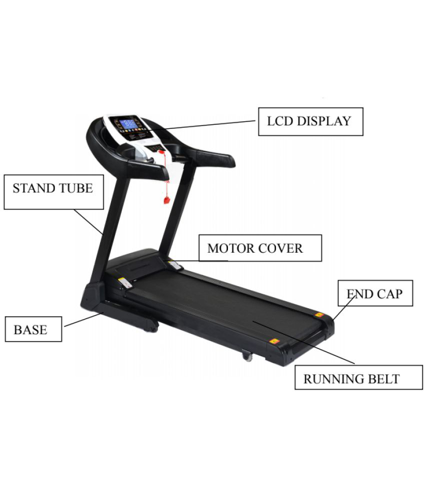 Energie Fitness Motorized Treadmill EHT-110 1 75 HP with Double layer  running board, MP3 & USB Input, High Quality Speakers (1 Year Warranty)