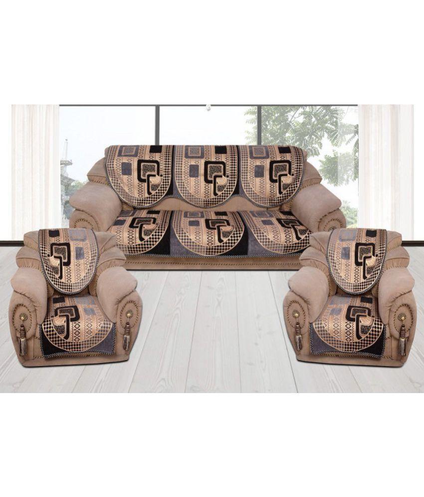 Fresh From Loom 5 Seater Velvet Set Of 10 Sofa Cover