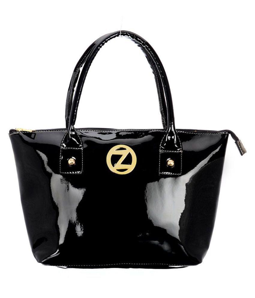 OSaiZ Black Faux Leather Shoulder Bag