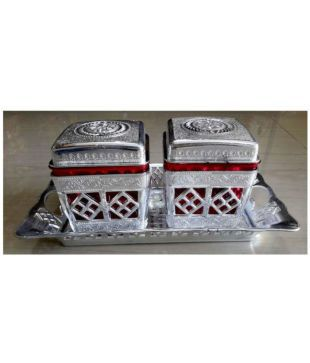 DUBAI 2 MULTI PURPOSE BOX  MULTI PURPOSE CONTAINER TO STORE DRY FRUITS,  NAMKEEN, BISCUITS, CHOCLATES & SNACKS  DRY FRUIT BOX, SERVING TRAY,  DECORATIVE