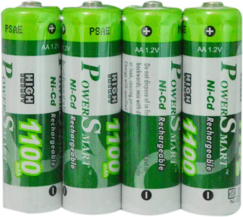 Power Smart 1100 mAh AA NICD Rechargable Battery- Pack of