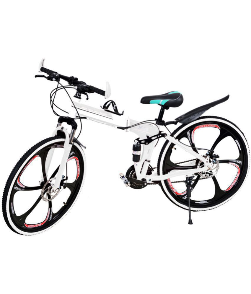 60f128a7e45 x6 folding cycle White 66.04 cm(26) Folding bike Bicycle Adult Bicycle/Man/Men/Women:  Buy Online at Best Price on Snapdeal