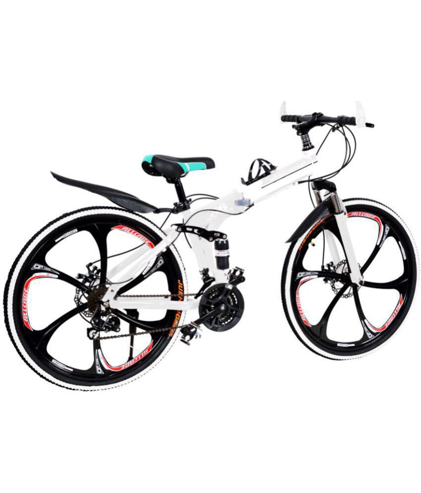 X6 Folding Cycle White 66 04 Cm 26 Folding Bike Bicycle Buy Online
