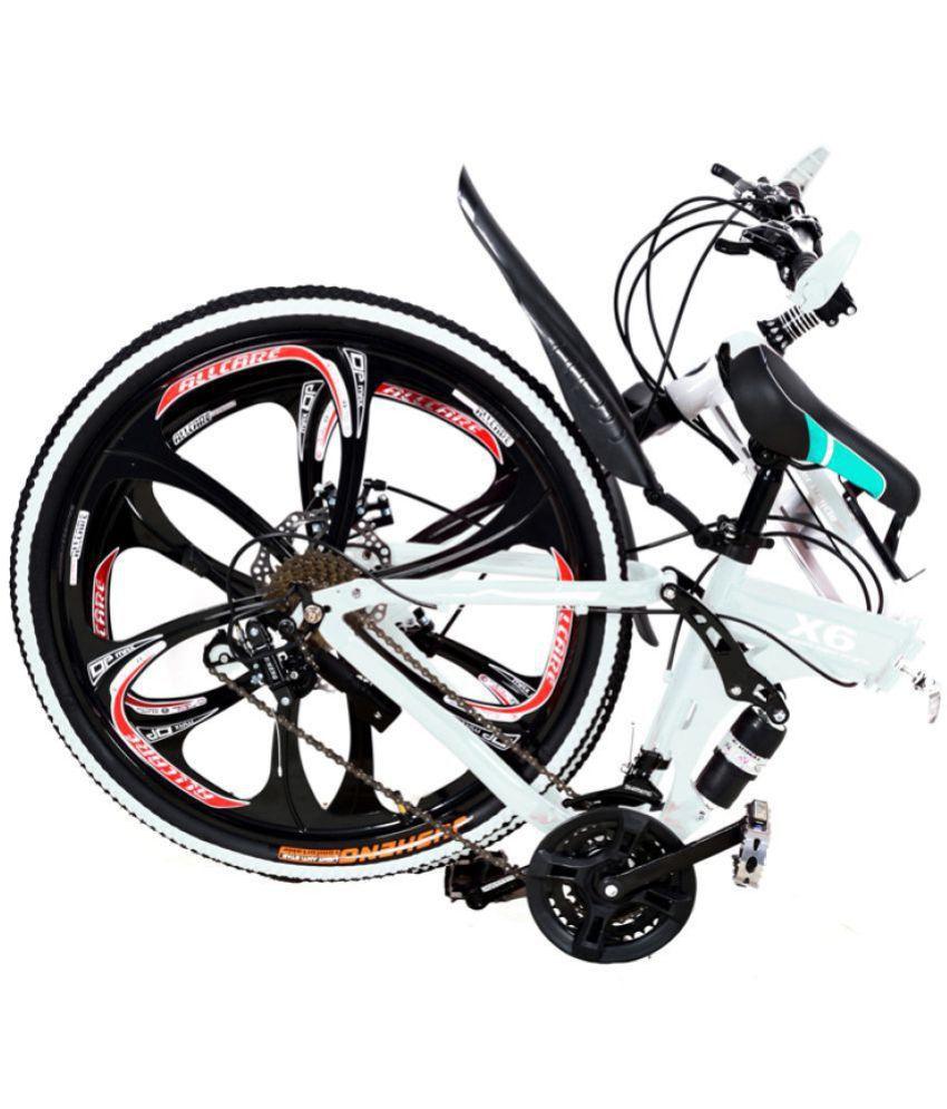 X6 Folding Cycle White 66 04 Cm 26 Folding Bike Bicycle Buy Online