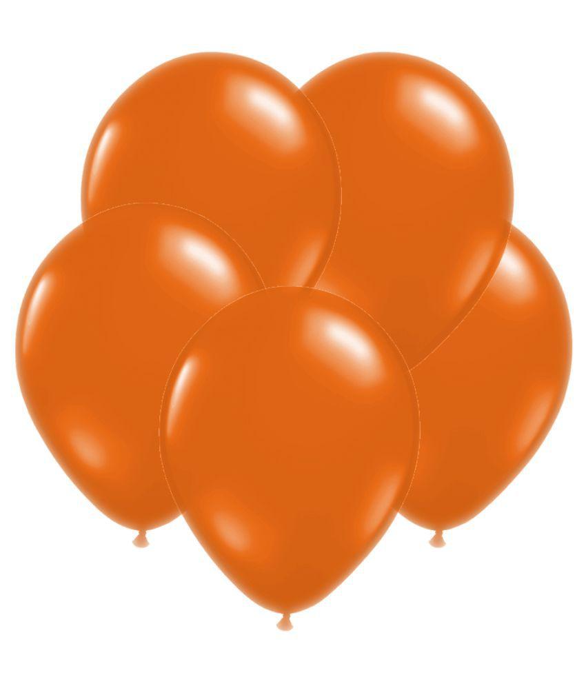 GB Balloons Plain Orange Large Party Balloons 35pc