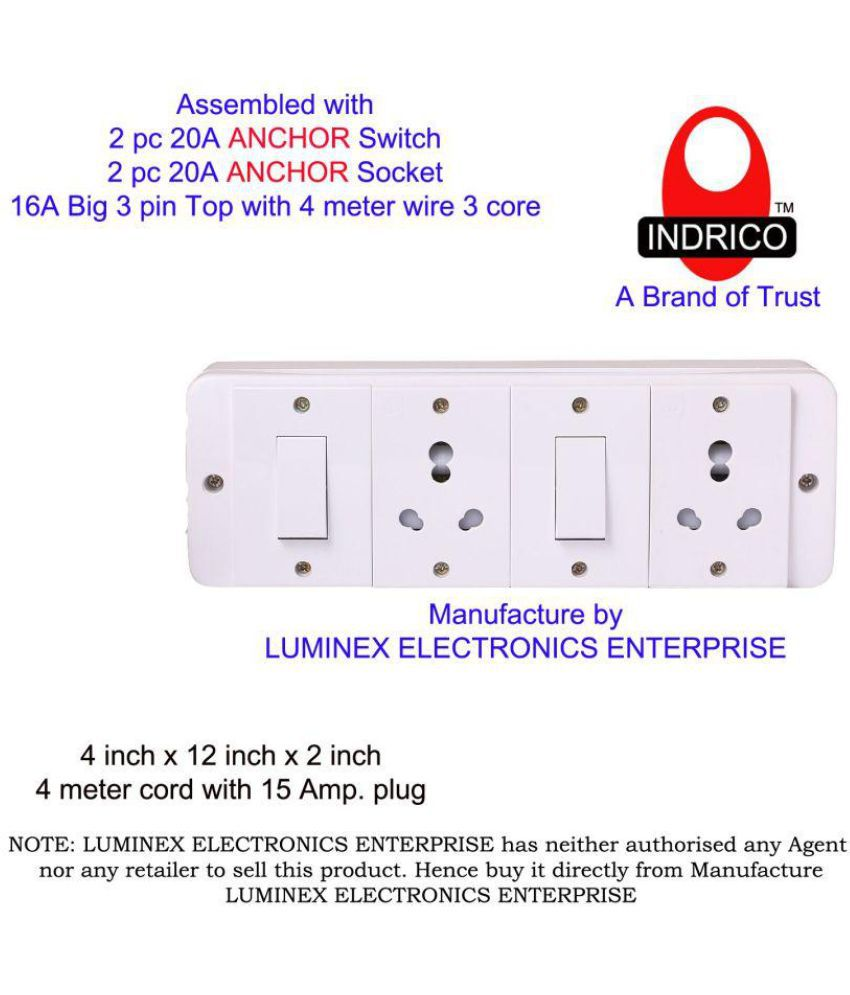 Buy INDRICO Switch Board power strip extension multi outlet