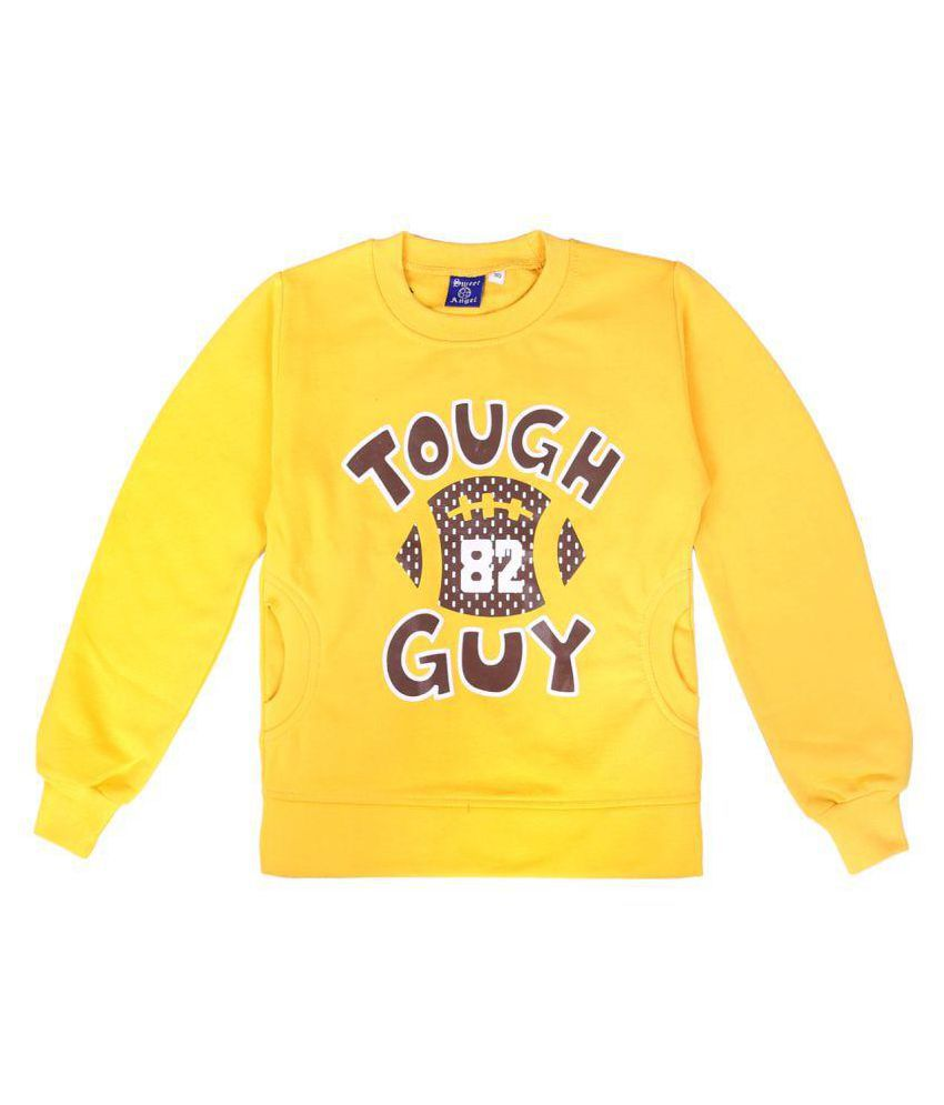 Sweatshirt Yellow Color for kids