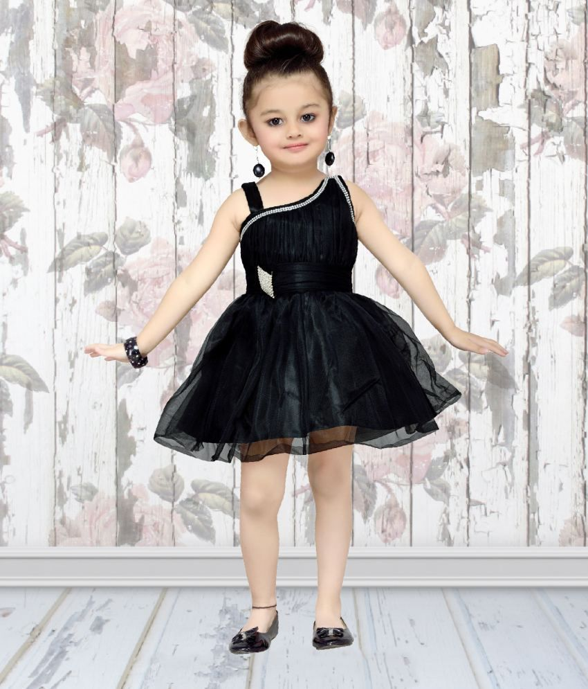 aa6bc4020 Aarika Baby Girl's Black Party Wear Frock - Buy Aarika Baby Girl's Black  Party Wear Frock Online at Low Price - Snapdeal