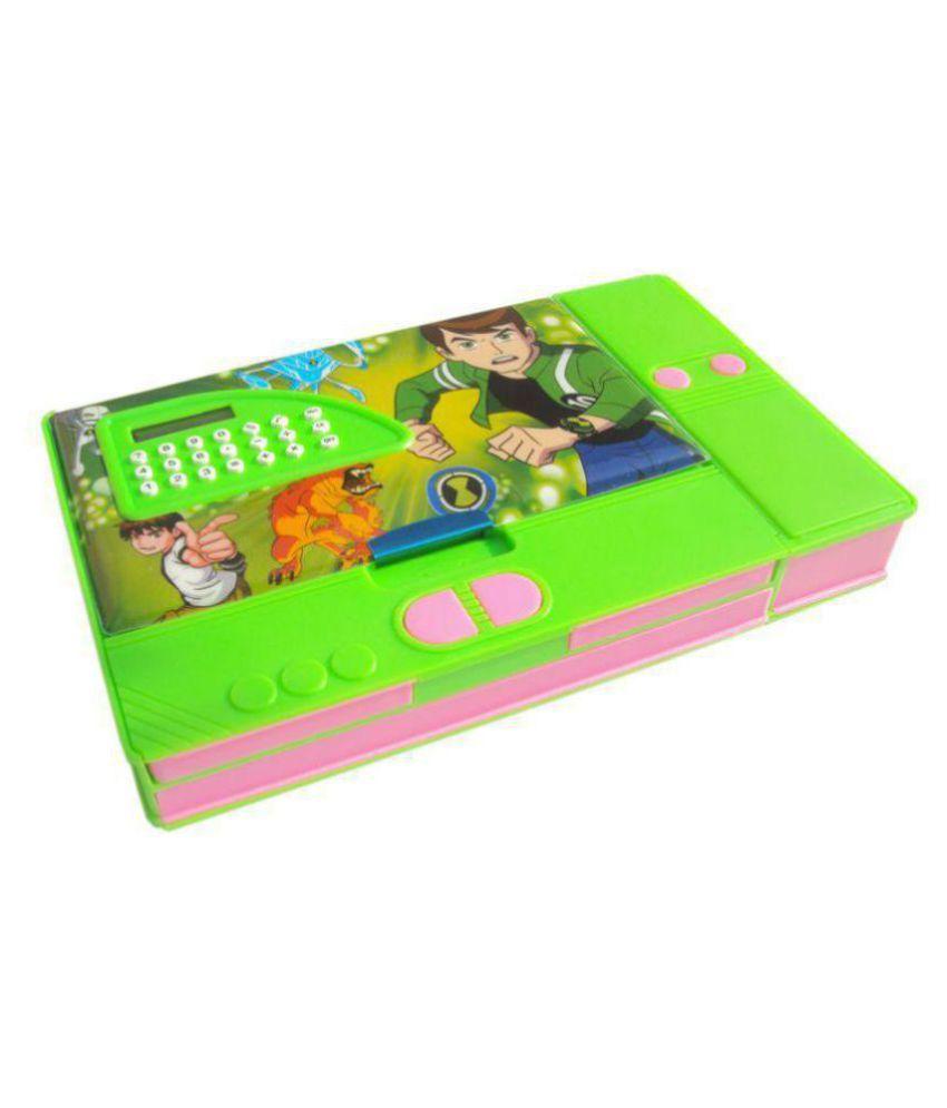 Aarvi Ben10 Cartoon Character Jumbo Pencil Box With Inbuilt Calculator Birthday Return Gift For Kids Buy Online At Best Price In India