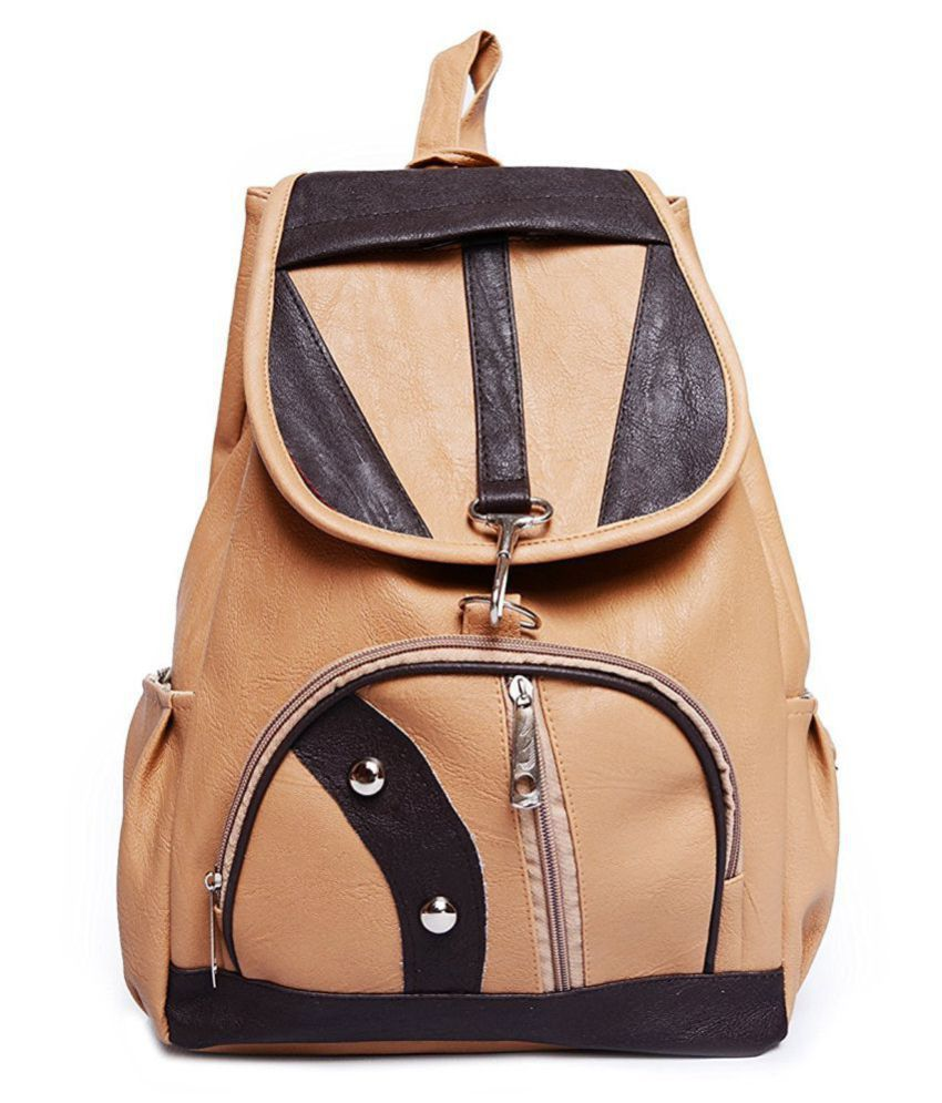 caba6e636 Bizarre Vogue Stylish College Bags Backpacks For Women   Girls (Cream