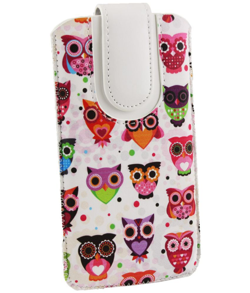 LG X Power2 Flip Cover by Emartbuy - Multi ( Magnetic Pouch Size LM2 ) Multi Owls