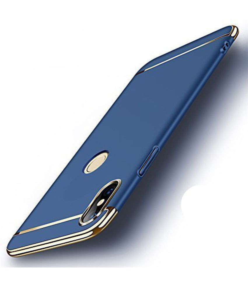 Samsung Galaxy Note 8 Plain Cases Kosher Traders - Blue 3 In 1 Back Cover