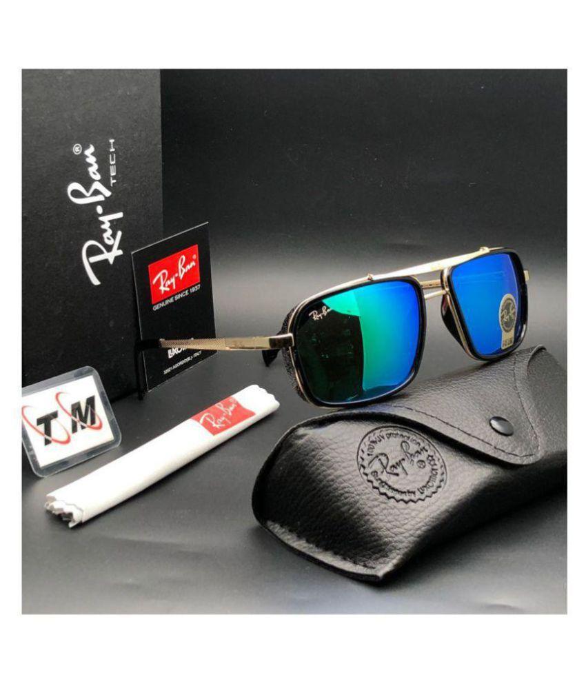 3c127ec019f Trendy Fashion Ocean Blue Square Sunglasses ( 4413 ) - Buy Trendy ...