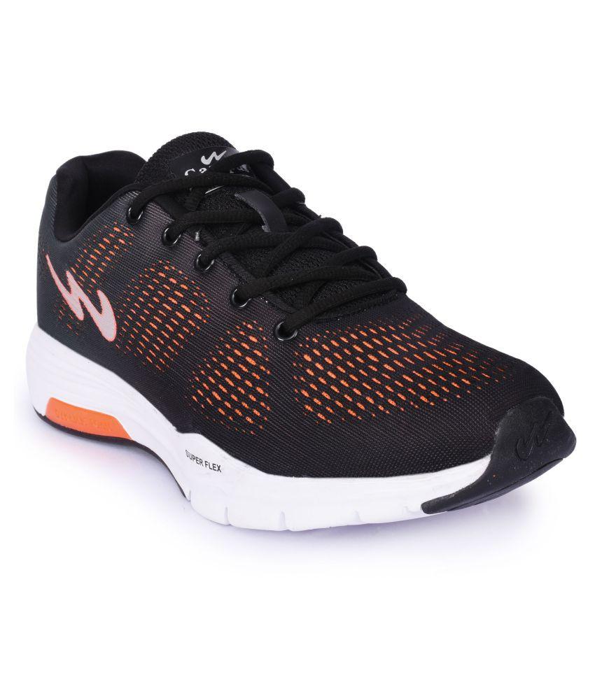 Campus QUANTUM Black Running Shoes