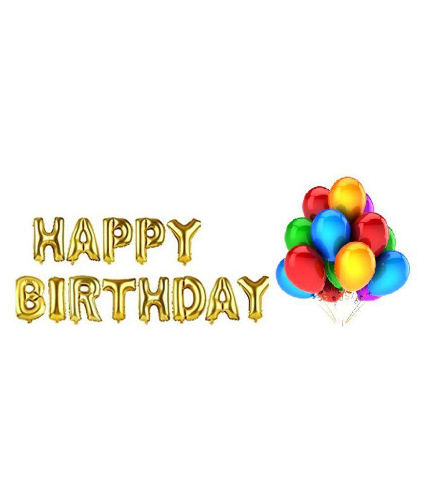 499 Happy Birthday Letter Foil Balloons