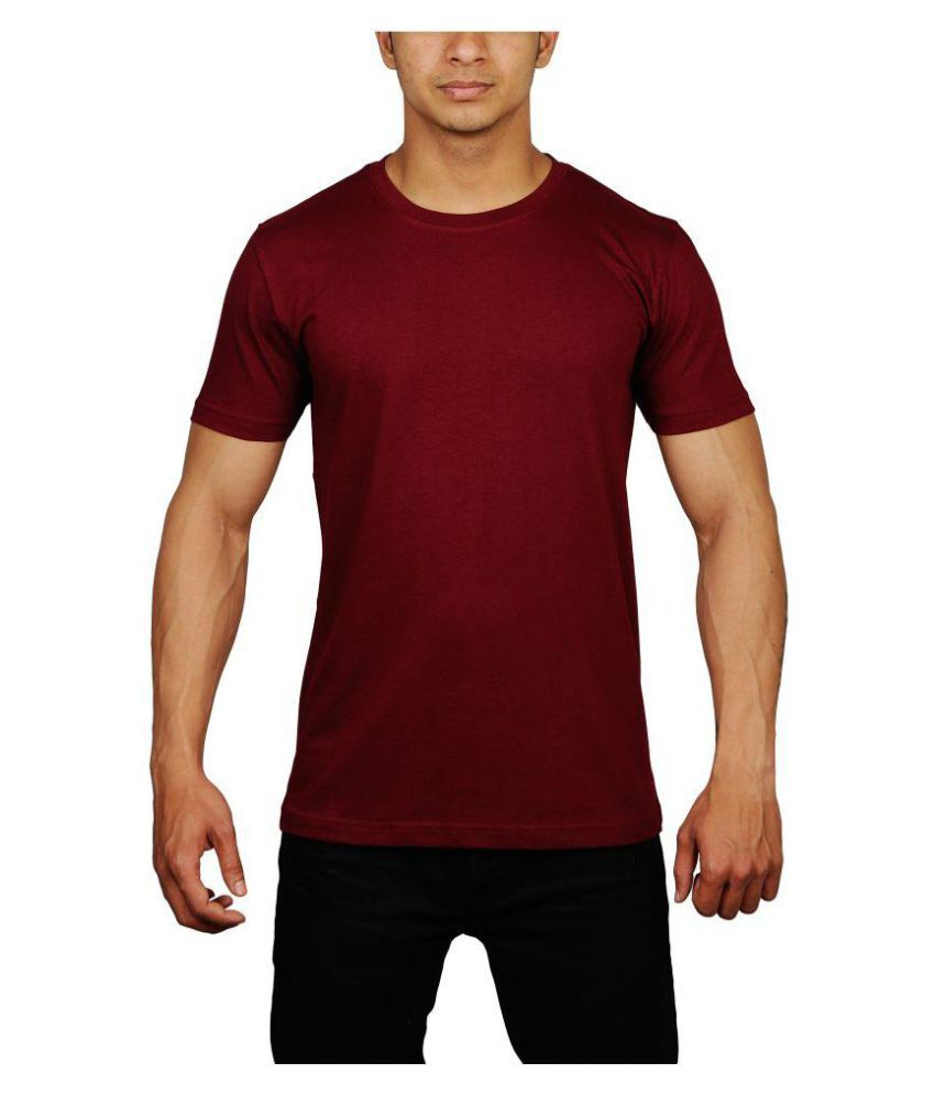 RT Apparel Maroon Half Sleeve T-Shirt Pack of 1