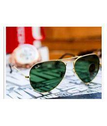 Trendy Fashion Green Aviator Sunglasses ( 1099 HT )
