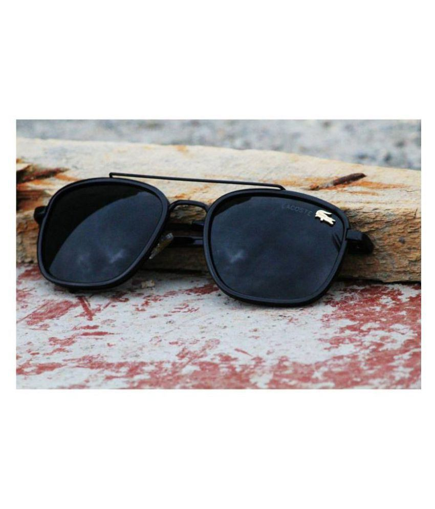 c93e1cd7d62 LACOSTE SUNGLSS Black Aviator Sunglasses ( L134 ) - Buy LACOSTE SUNGLSS  Black Aviator Sunglasses ( L134 ) Online at Low Price - Snapdeal