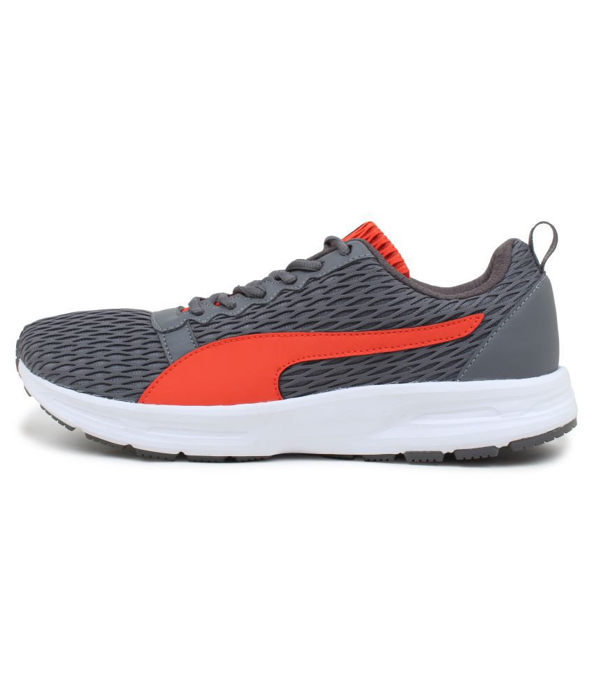 Puma Men Fabian IDP Gray Running Shoes - Buy Puma Men Fabian IDP ... 5d6bd8465
