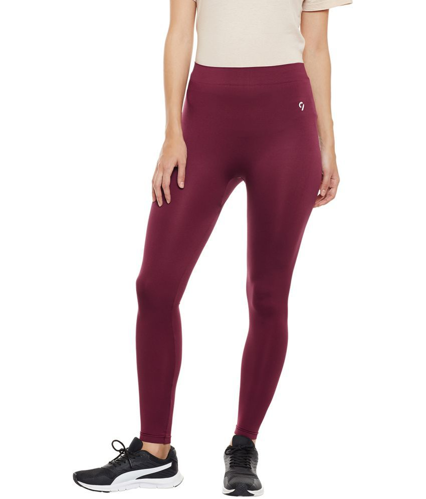 C9 Poly Cotton Tights - Maroon