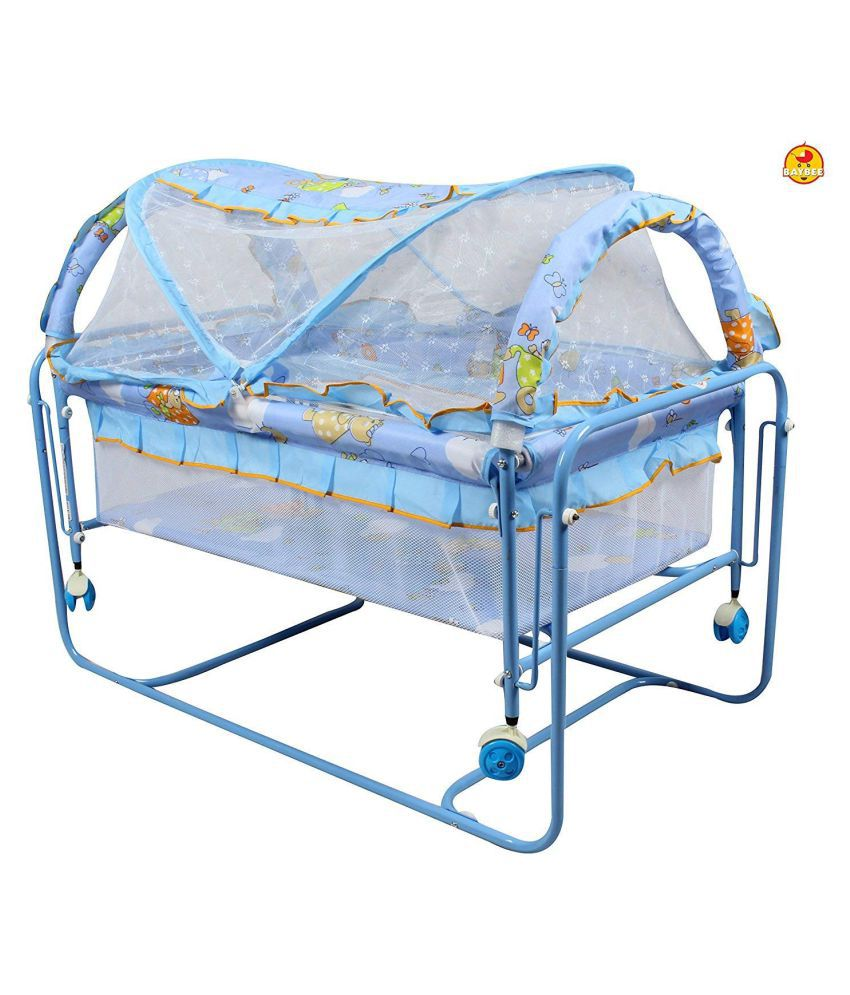 BAYBEE Lightweight and Transportable Cocoon Swing Cradle (Blue)