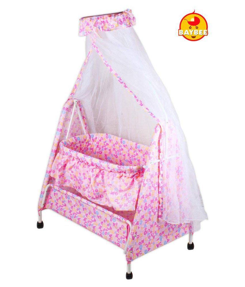 Baybee Sleep-Well Bassinet Cradle (Pink)