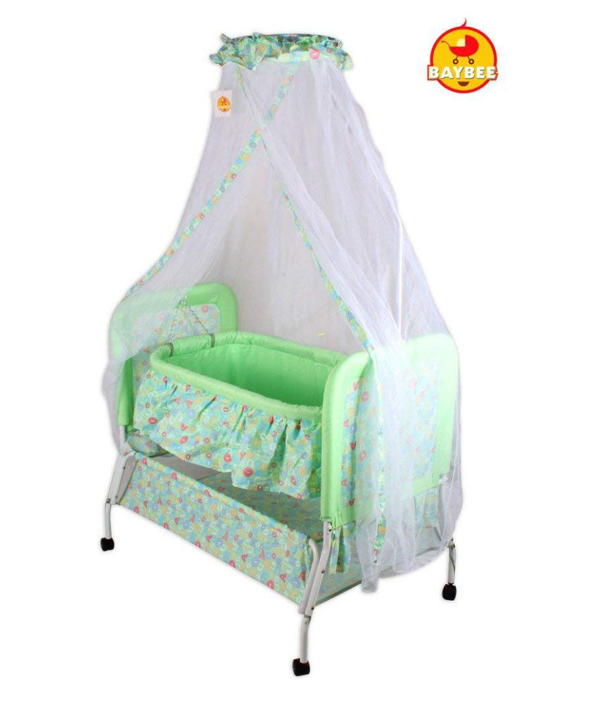 Baybee Sleep-in Cradle (Green)