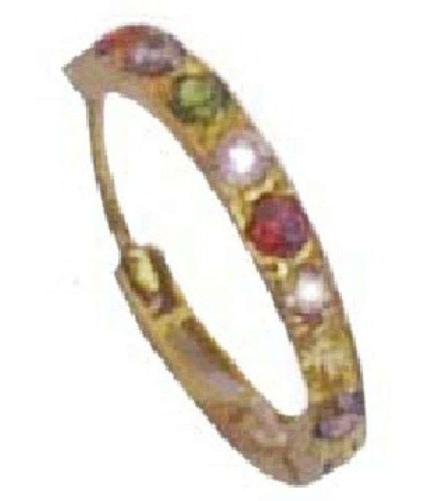 Ankit Collection 18k Gold Floral Nose Ring Buy Ankit Collection