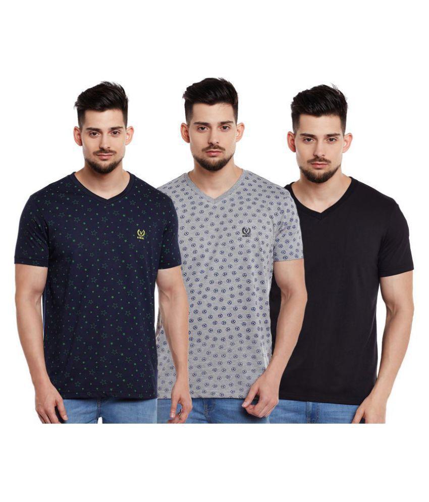 Vimal Multi Half Sleeve T-Shirt Pack of 3
