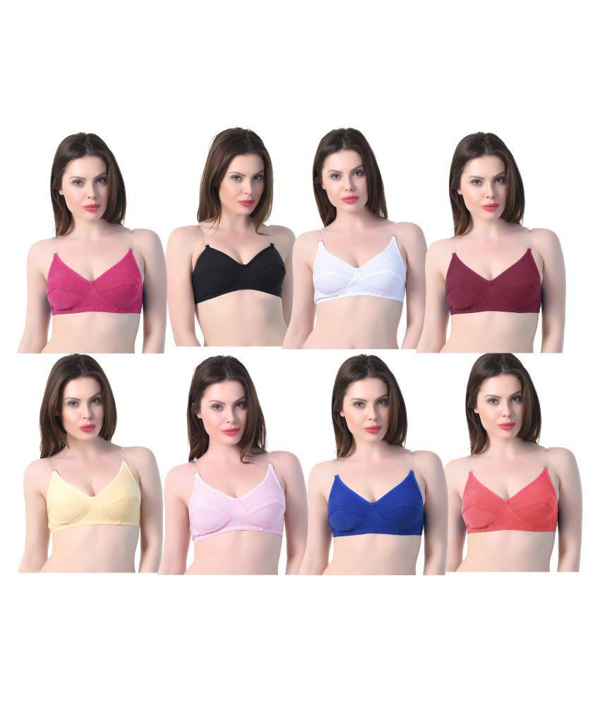 Zaambia Cotton T-Shirt Bra - Multi Color