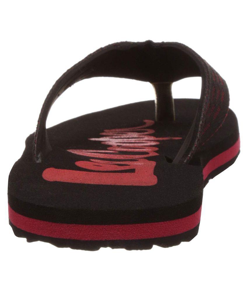 6de063922ab Lee Cooper Men Black Thong Flip Flop Price in India- Buy Lee Cooper ...