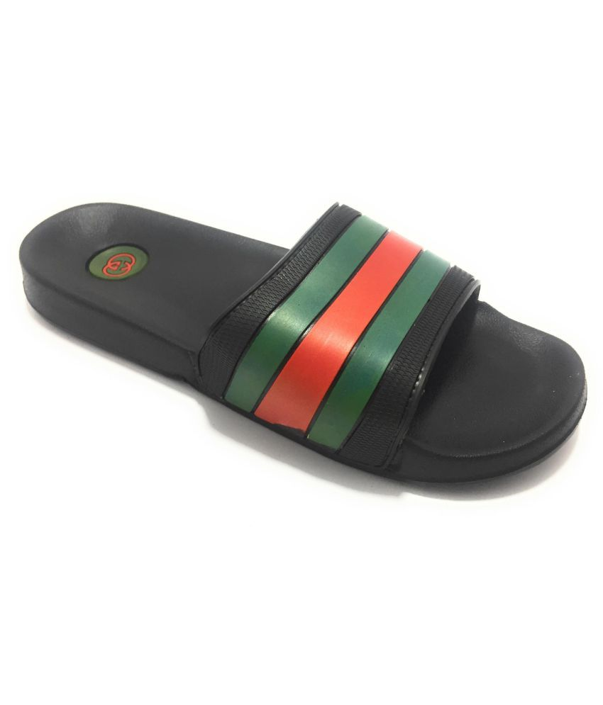 0a72a596a540 Gucci Slide Green Daily Slippers Price in India- Buy Gucci Slide Green  Daily Slippers Online at Snapdeal