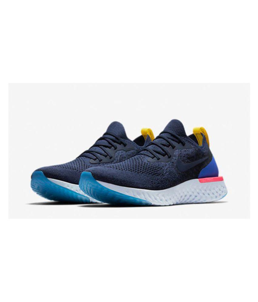 quality design 44a34 560e0 Nike LUNAR EPIC REACT Blue Running Shoes
