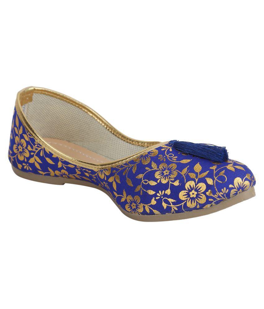 TS Nanda Blue Ethnic Footwear