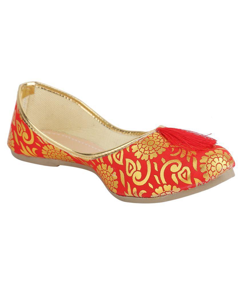 TS Nanda Red Ethnic Footwear