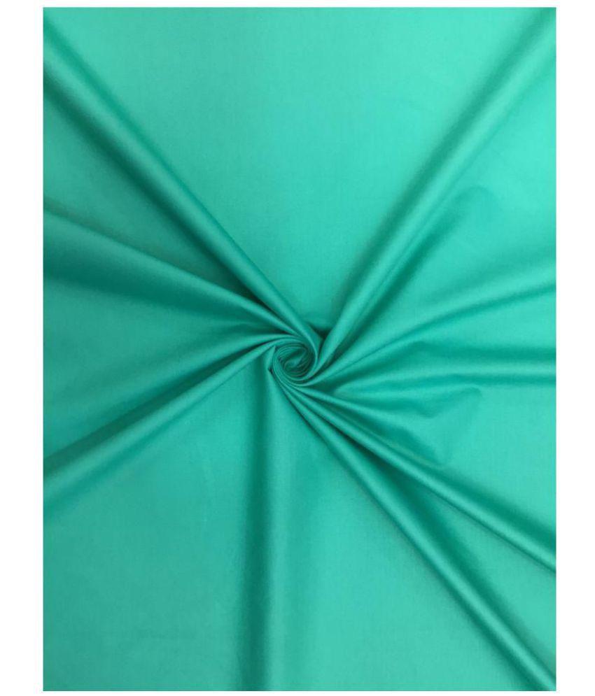swing fashions Turquoise 100 Percent Cotton Unstitched Shirt pc
