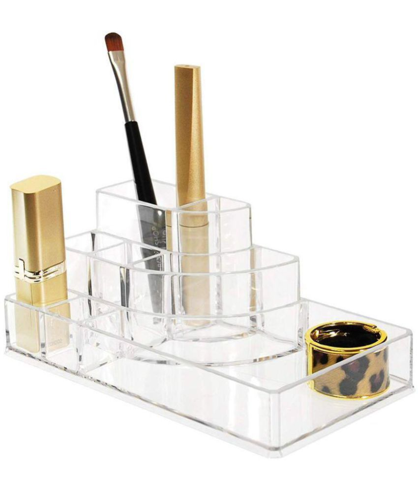 88478e419662 House of Quirk Acrylic Cosmetic Makeup Organizer Kit Clear - 8 Slots