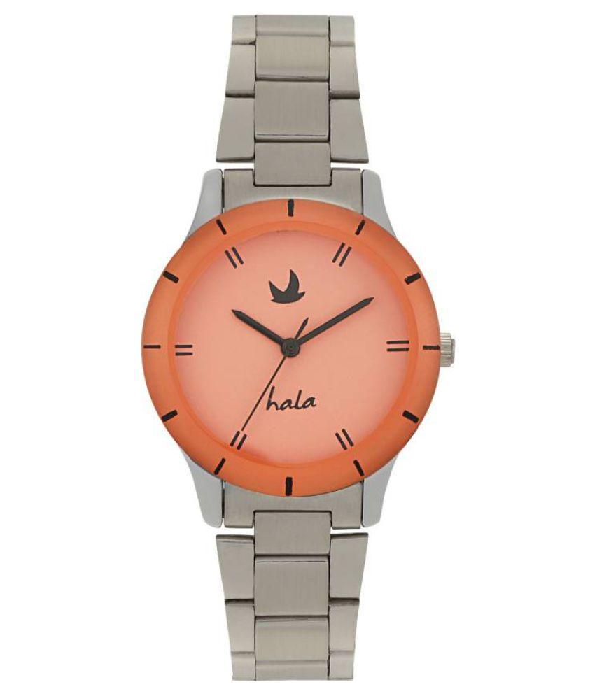 Hala HA169 Original High Quality Orange Dial Metal Analog Men #039;s Watch