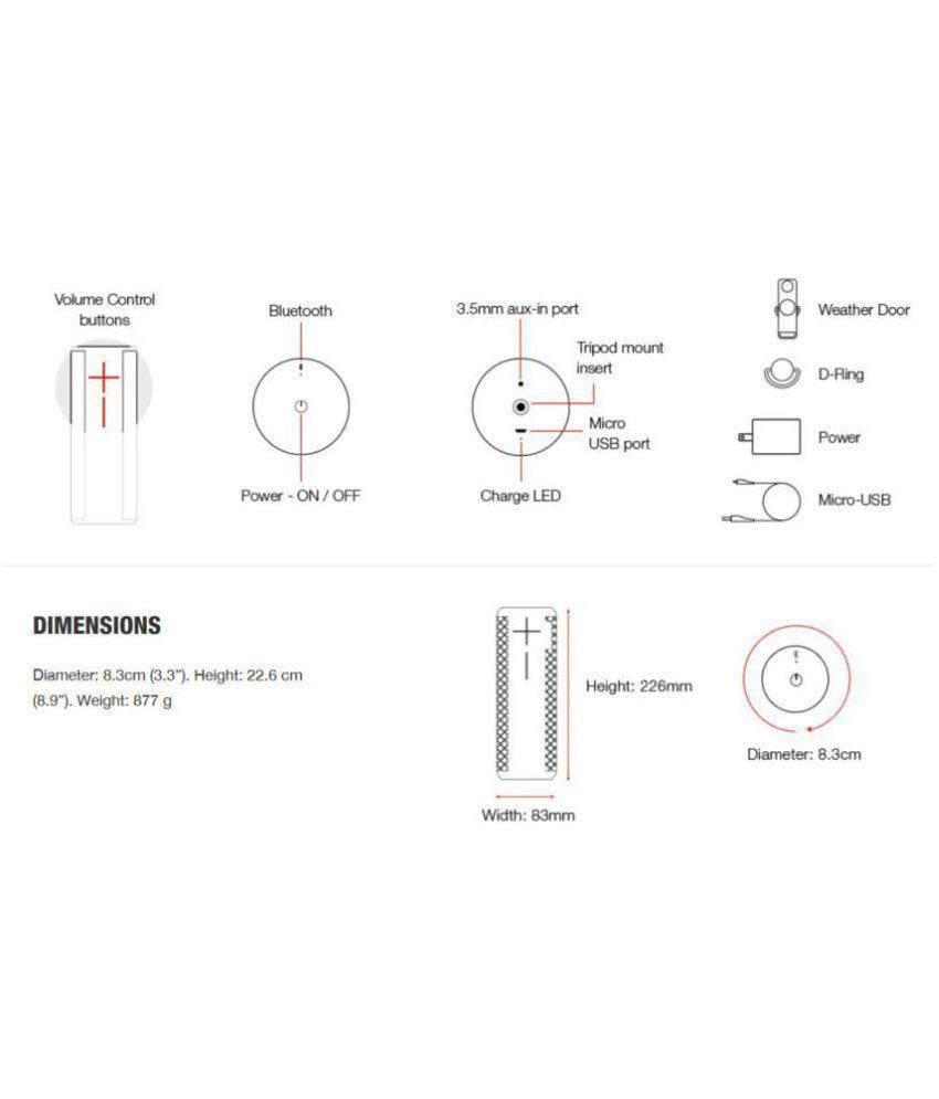 Ultimate Ears MEGABOOM WATERPROOF Bluetooth Speaker - Buy