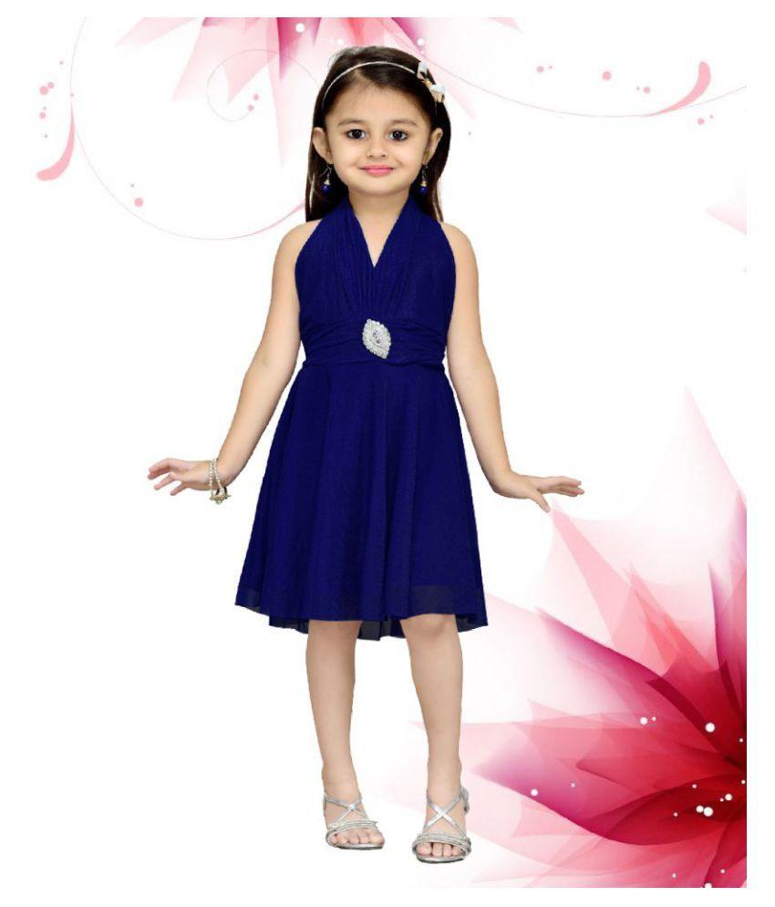 Aarika Blue Net Dress