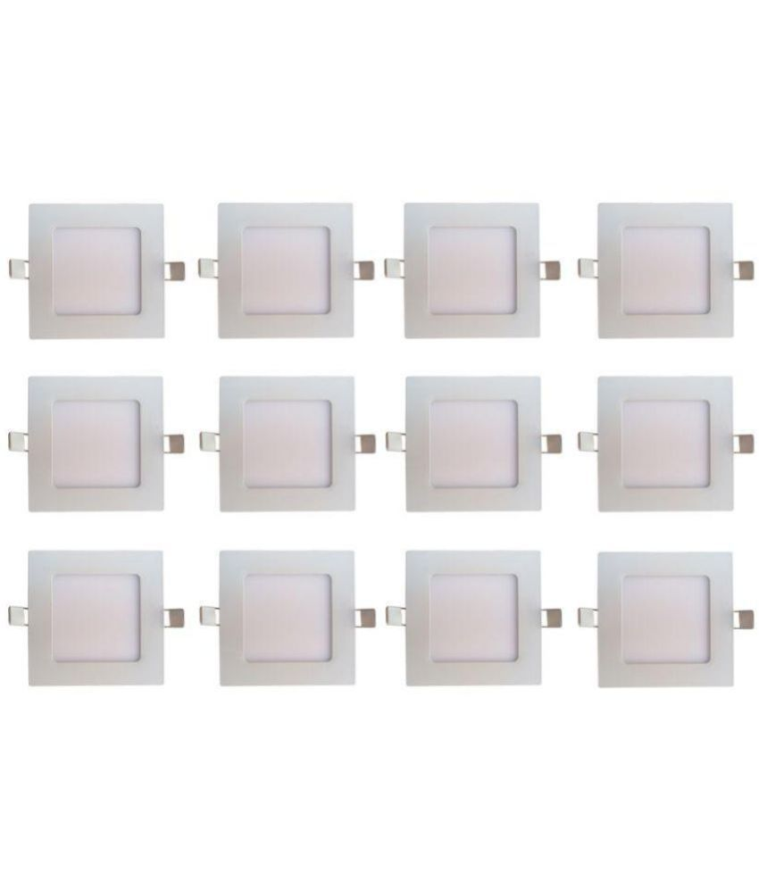 Bene 6W Square Ceiling Light 12 cms. - Pack of 12