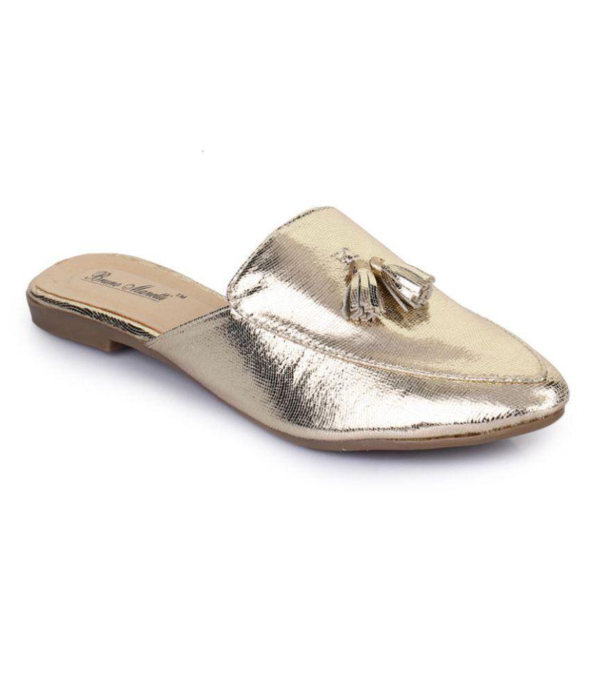 Bruno Manetti Gold Slippers