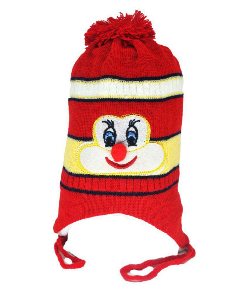 Kids Winter Cap / Woolen Cap ( Red )