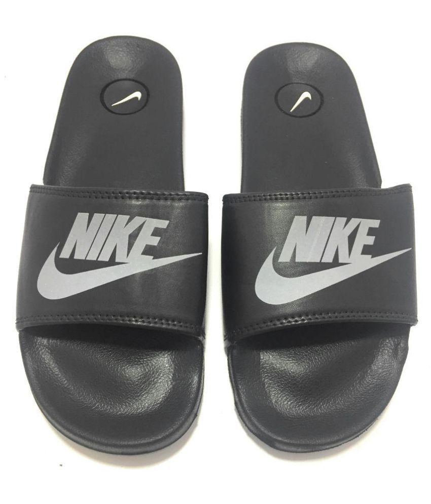 size 40 4ba60 c99e8 Adidas Nike Black Daily Slippers Price in India- Buy Adidas ...