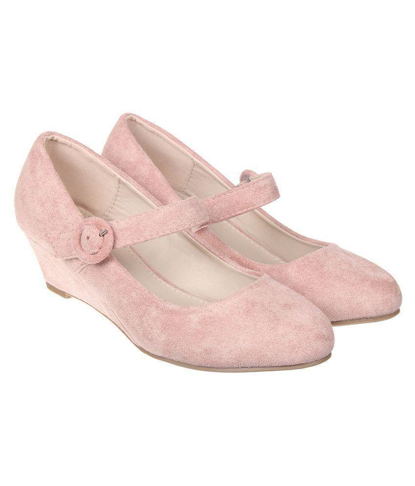 Flat N Heels Pink Wedges Heels