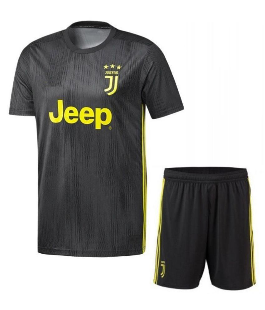 e08ee6245 Juventus Away Football Jersey With Shorts 18 19 Football Kit  Buy Online at  Best Price on Snapdeal