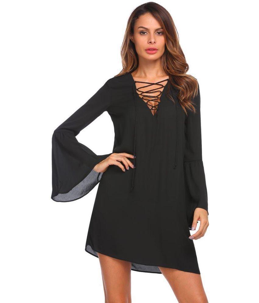 Generic Chiffon black Asymmetric dress