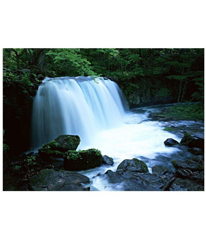 Vitalwalls Waterfall Paintings Paper Painting Without Frame
